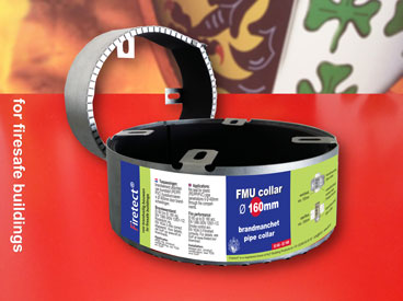 fire resistant pipe collar