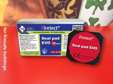 Seal pad EVO | intumescent pad for socket